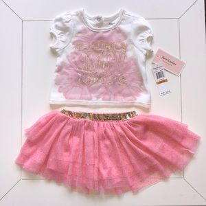 JUICY COUTURE 2 piece set girls 12 Months! NWT.
